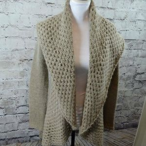 Elsamanda Anthropologie Mohair Wool Open Cardigan